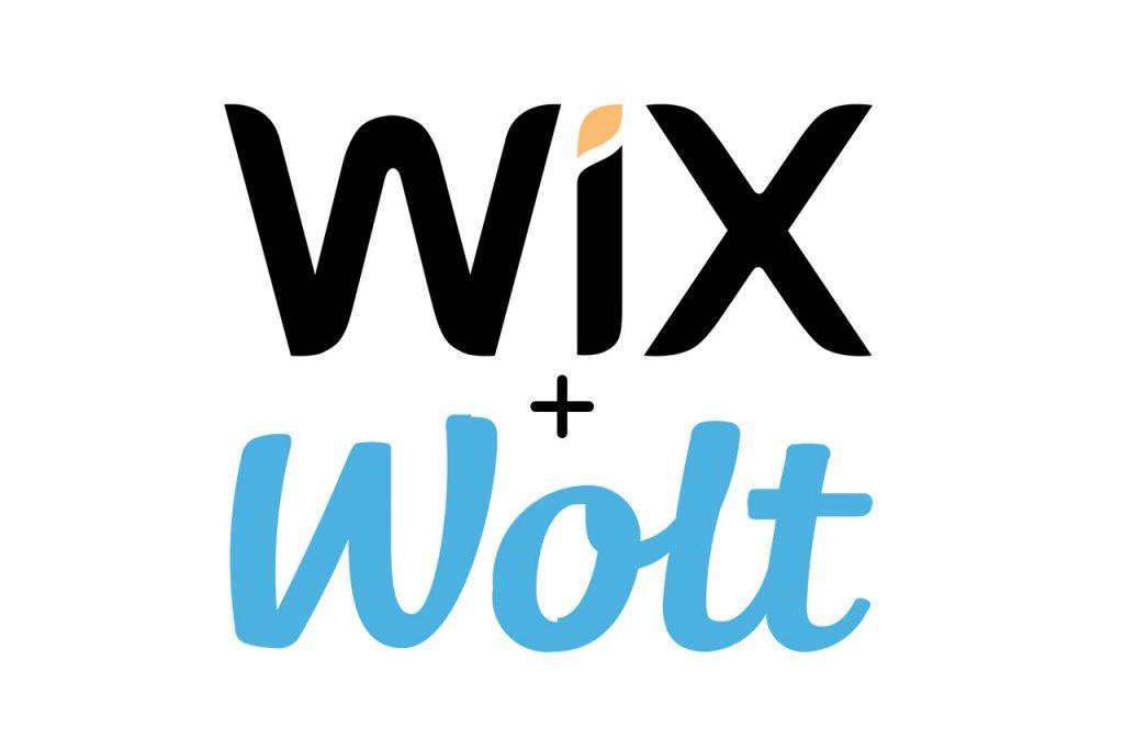 לוגו Wix ו-Wolt